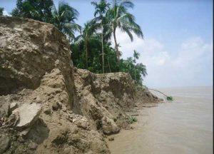 পদ্মার ভাঙনে স্কুল-ব্রিজ নদীগর্ভে