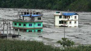 বন্যার কবলে নেপালের রাজধানী কাঠমান্ডু